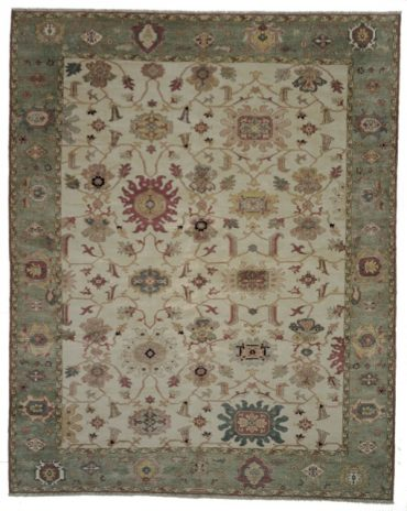 Sultanabad 6×9 in Vintage Ivory Green