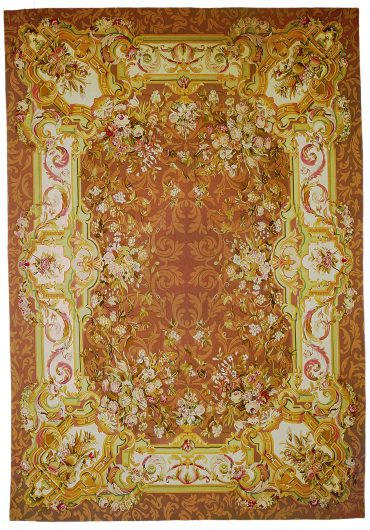 Aubusson 12 x 19 in Brown/Brown