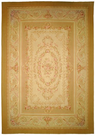 Aubusson 12 x 18 in Beige/Taupe