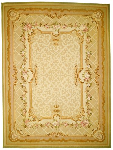 Aubusson 8 x 9 in Beige/Taupe