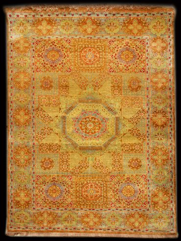 Mamluk 2 x 6 in Caramel/Lightblue