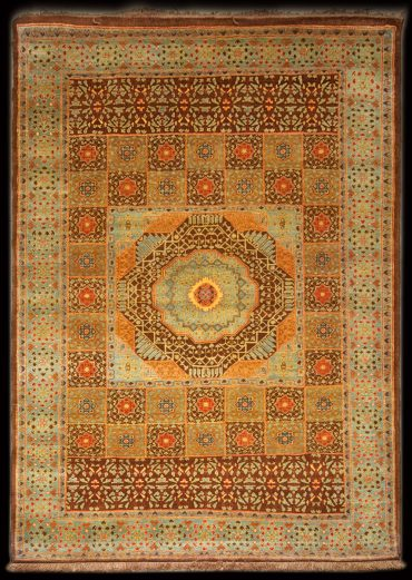 Mamluk 8 x 11 in Chocolate/Lightblue