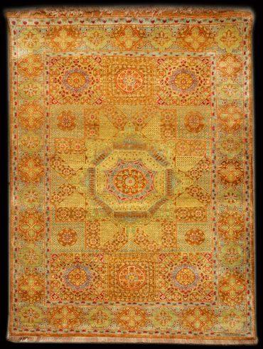 Mamluk 8 x 12 in Caramel/Lightblue