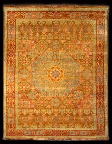 Mamluk 4 x 6 in Caramel/Lightblue