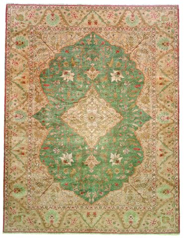 Sultanabad 4×6 in Green/Tobacco