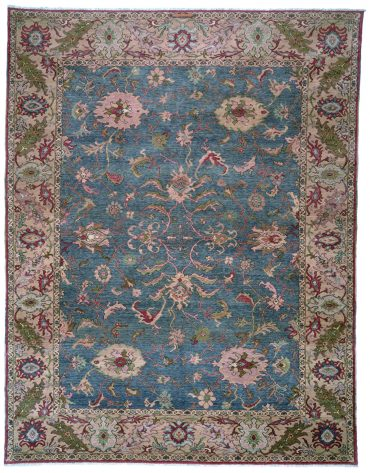 Sultanabad 9×9 in Medium Blue/Tobacco