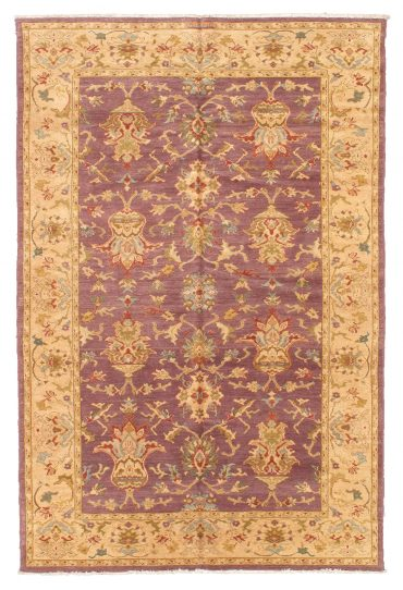 Sultanabad 5×8 in Purple/Wheat