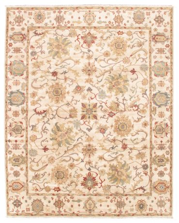 Sultanabad 12×15 in Ivory/Ivory