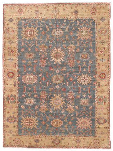 Sultanabad 10×14 in Medium Blue/Tobacco