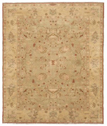 Sultanabad 8×9 in Light Olive/Light Yellow