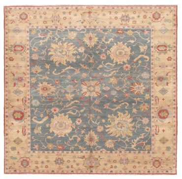 Sultanabad 10×10 in Medium Blue/Tobacco