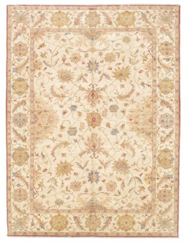 Sultanabad 9×12 in Ivory/Ivory