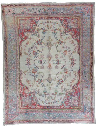 Antique Anatolia Oushak 8 x 11 in Pastel