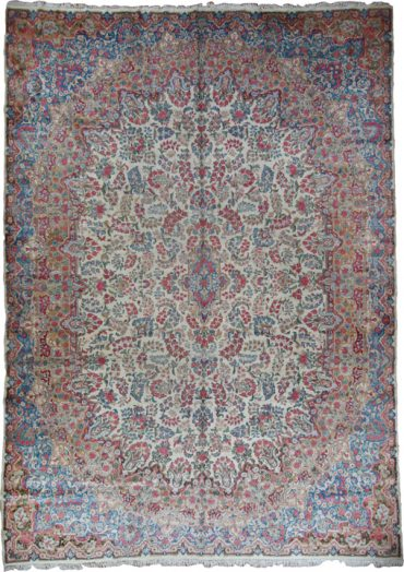 Antique Persia Kerman 10 x 14 in Pastel/Blue