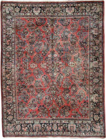 Antique Persia Sarouk 8 x 11 in Red/Blue13122