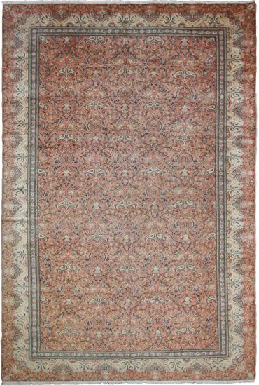 Antique Anatolia Sivaz 8 x 11 in Ivory/Pink