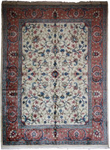Antique Anatolian 9 x 13 in Blue/Salmon