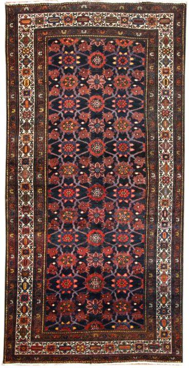 Antique Persian Hamadan 4 x 10 in Red/Blue22274