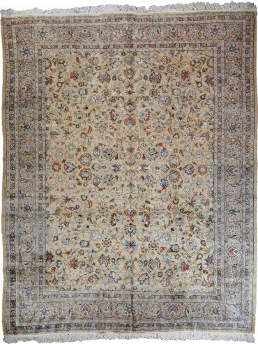 Antique Persian Sarouk 9 x 12 in Light Yellow