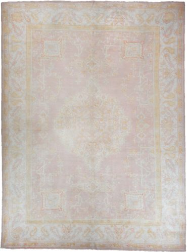 Antique Anatolia Oushak 9 x 13 in Pink/Ivory