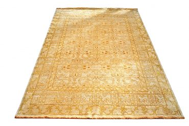 Oushak Egyptian 12 x 16 in Olive/Yellow