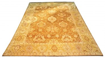 Oushak Egyptian 12 x 18 in Caramel/Yellow