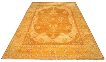 Oushak Egyptian 9 x 12 in Caramel/Yellow