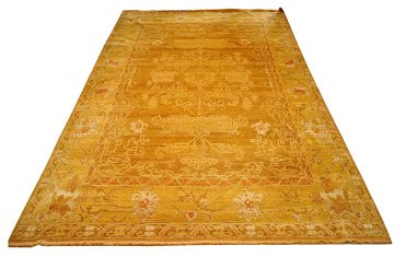 Oushak Egyptian 10 x 14 in Caramel/Yellow
