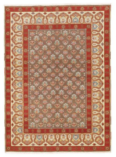 Armenian Caucasian 5×6 in Light Brown/Ivory