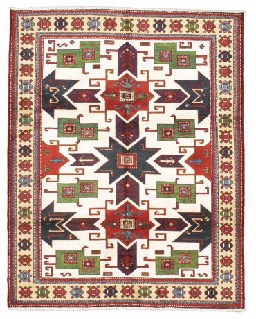 Armenian Caucasian 6×8 in Red/Blue/Green/Ivory