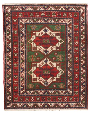 Armenian Caucasian 6×8 in Green/Red