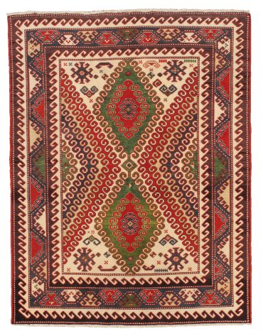 Armenian Caucasian 5×6 in Red/Cream/Beige