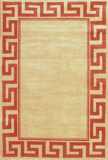 Armenian Modern 9×11 in Cream/Red