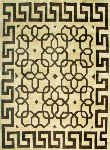 Armenian Modern 8×10 in Cream/Dark Brown