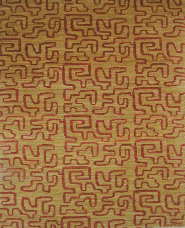 Armenian Modern 4×5 in Yellow Wheat/Red