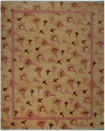 Armenian Modern 8×9 in Cream/Pink/Burgundy