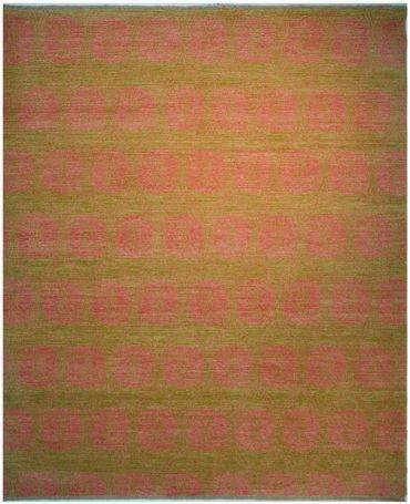 Armenian Modern 8×10 in Light Green/Pink