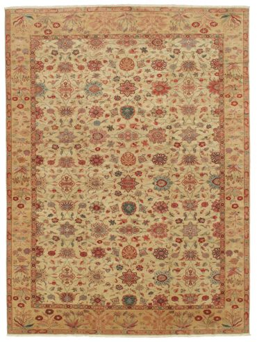 Romanian Sultanabad Rug 12×16 in Ivory/Olive