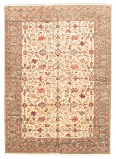 Romanian Sultanabad 10×14 in Ivory/Olive