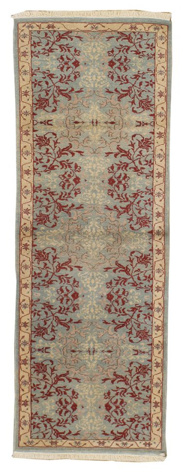 Romanian Sultanabad 2×6 in Light Green/Ivory