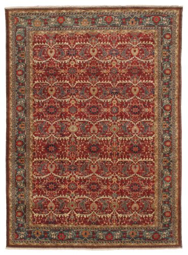 Romanian Sultanabad Rug 11×15 in Red/Green