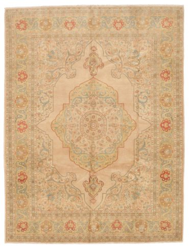Pakistan Tabriz 7×10 in Beige/Yellow