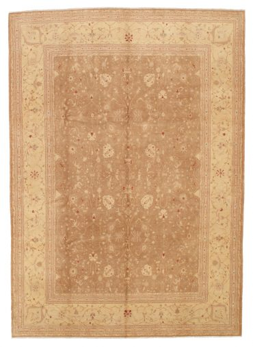 Pakistan Tabriz Rug 9×13 in Caramel/Wheat