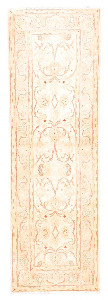 Pakistan Tabriz 2×8 in Beige/Wheat